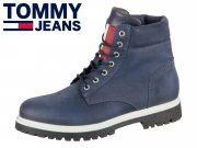 Tommy Hilfiger Iconic Tommy Jeans Suede Boot EM00156-006 ink