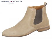 Tommy Hilfiger Suede Chelsea Boot FM0FM01087-005 taupe grey Suede
