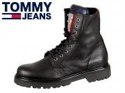 Tommy Hilfiger Sparkle Lace Up Boot EN0EN00243-990 black