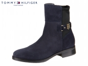 Tommy Hilfiger TH Buckle Bootie Stretch FW0FW03066-403 midnight