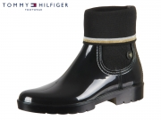 Tommy Hilfiger Knitted Sock Rain Boot FW0FW03565-990 black