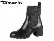 Tamaris 1-25404-31-001 black Materialmix Leder Textil