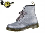 Dr Martens 8 Eye Boot Glitter 34320041 pewter glitter Pascal PU Glitter