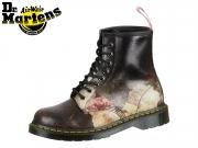 Dr Martens 8 Eye Boot New Order 24076101 white black Christal Suede