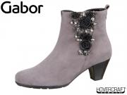 Gabor 95.643-19 dark grey glitter Samtchevrau Lack