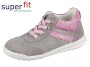 SuperFit AVRILE MINI 4-09378-25 hellgrau-rosa Velour- Effektleder