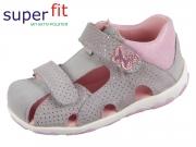 SuperFit Fanni 4-09041-25 hellgrau rosa Velour Effektleder