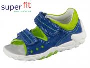SuperFit FLOW 4-00030-82 blau grün Velour Textil