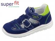 SuperFit MEL 4-00430-80 blau-hellgrün Velour Textil