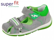 SuperFit FREDDY 4-09145-25 hellgrau grün Suede Textil