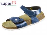 SuperFit Fussbettpantoffel 4-00118-80 blau Tecno