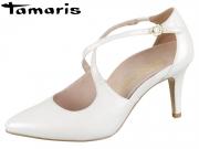 Tamaris 1-24402-22-101 white pearl Leder