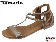 Tamaris 1-28043-22-192 champagne metallic Leder