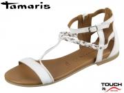 Tamaris 1-28043-22-197 white combi Leder