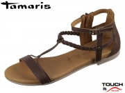 Tamaris 1-28043-22-354 mocca uni Leder