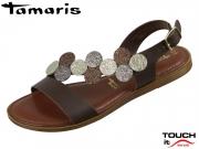 Tamaris 1-28139-22-308 mocca comb Mix Leder Synthetik
