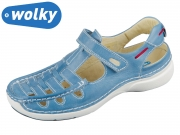 Wolky Rolling Summer Oxford 0720135-815 sky blue Leather