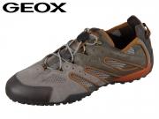 Geox Uomo Snake J U4207J02214CQ67R taupe dk orange Scam Mesh DK