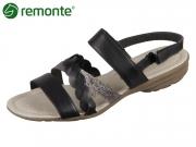 Remonte R3646-01 schwarz altsilber Crease Cairo Fino