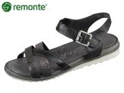 Remonte R2753-02 schwarzmetallic altsilber schwarz Toulouse Cairo Fino Crease
