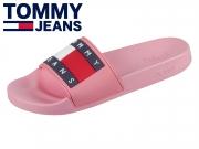 Tommy Hilfiger Flag Pool Slide EN0EN00474-669 geranium pink