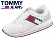Tommy Hilfiger Jeans Sneaker EN0EN00486-901 white lotus frosty green