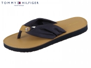 Tommy Hilfiger Footbed Beach Sandal FW0FW00475-403 midnight Baumwolle
