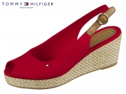 Tommy Hilfiger Iconic Elba Basic Sling Back FW0FW04081-611 tango red textile