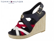 Tommy Hilfiger Iconic Elena Sandal FW0FW04104-020 red white black