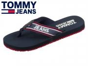 Tommy Hilfiger Stripe Tommy Jeans Beach Sanda EM0EM00218-431 black iris