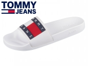 Tommy Hilfiger Flag Pool Slide EM0EM00284-100 white