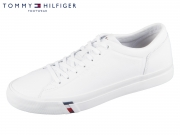 Tommy Hilfiger Corporate Leather Sneaker FM0FM02089-100 white