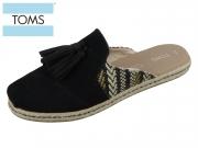 TOMS Nova 10013390 black Nubuk Textil