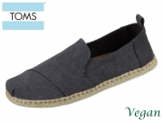 TOMS Deconstructed Alpargata Rope 10011621 black washed Canvas