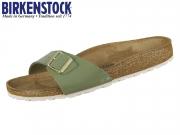 Birkenstock Madrid 1013078 patent khaki Birkoflor
