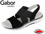 Gabor Rolling Soft 26.915-47 schwarz Nubuk