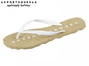 Asportuguesas  Base woman P018000000 natural-white Rubber Stripe