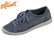 Softinos Ica 388-006 navy Washed Leather