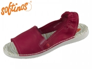Softinos Tee 430-002 red Washed Leather