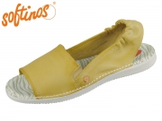 Softinos Tee 430-003 yellow Washed Leather