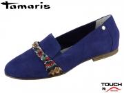 Tamaris 1-24223-32-815 blue Leder Textil
