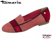 Tamaris 1-24228-32-001 raspberry kombi Leder Textil