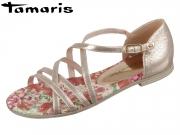 Tamaris 1-28179-32 951 rose metallic flower Leder