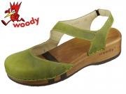 Woody Nicole 16542 ki kiwi Fettleder