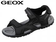 Geox U Sandal Strada U8224D050AUC9310 black stone DBK Scam Sint
