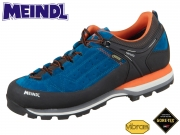 Meindl Literock GTX 3922-09 blau orange Velour Mesh Goretex