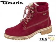 Tamaris 1-26244-21-500 RED Materialmix aus Leder und Synthetik Tex