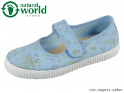 natural world W56996-93 azul sky organic cotton