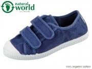 natural world 78777-84 azul oscur organic cotton