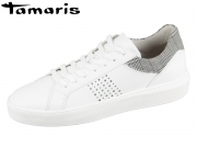 Tamaris 1-23767-32-130 white-tartan leather